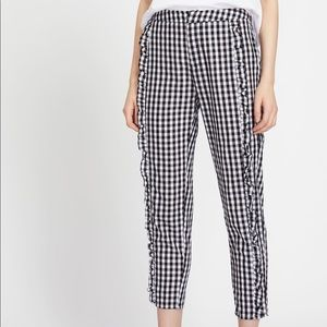 Gingham check cropped pant